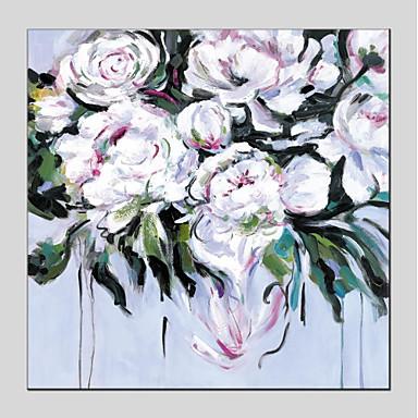 Hang oslikana uljanim bojama Ručno oslikana - Cvjetni / Botanički Moderna Platno