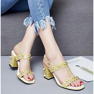 Printemps Chaussures Talon mouton 06838047 Jaune Peau Rose Sandales Confort de Femme Bottier Noir wqIOqp