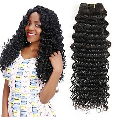 voordelige Weaves van echt haar-3 bundels Braziliaans haar Diepe Golf Mensen Remy Haar Menselijk haar weeft Bundle Hair Een Pack Solution 8-28 inch(es) Natuurlijke Kleur Menselijk haar weeft Eenvoudig Hot Sale Zijdebasishaar