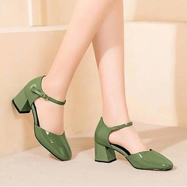Femme Chaussures Chaussures Eté Talons Nappa Talon à Jaune Cuir 06776470 Confort Vert Bottier XwrqaX1