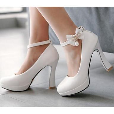Femme Polyuréthane 06776006 Talons Basique Chaussures Printemps Blanc Talon à Aiguille Chaussures Noir Confort Escarpin rO58wxrfq