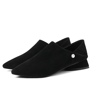 Mocassins Chaussures Bas Eté Noir Confort Marron D6148 Daim Bout Chaussons Talon Femme Printemps pointu 06778034 et SqXdgFnwv