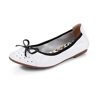 des des des chaussures en cuir nappa - printemps / été confort flats croûton fermé toe Blanc  / kaki a09628