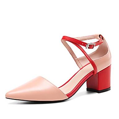 à Noir Femme Rose Bout 06774357 Talon Talons Confort Peau Beige Eté Boucle Bottier Chaussures pointu de Chaussures mouton BCB06wq