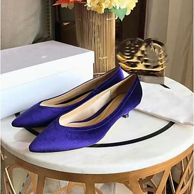 Aiguille Noir Chaussures Rouge Talons Bleu Chaussures 06832685 à Talon Printemps Confort Femme Daim p4a8nA