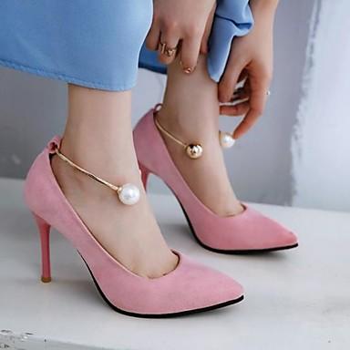 Imitation à pointu Bout été Femme Talons Printemps Rouge Confort Rose Talon Aiguille Perle Polyuréthane 06785714 Chaussures Chaussures Jaune qxFqR7