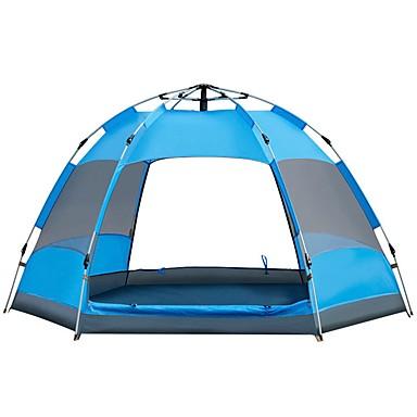 Sheng yuan 4 شخص أوتوماتيكي الخيمة في الهواء الطلق ضد الهواء مقاوم للأشعة فوق البنفسجية مكتشف الأمطار طبقات مزدوجة أوتوماتيكي خيمة التخييم 2000-3000 mm إلى Camping / Hiking / Caving السفر تنزه