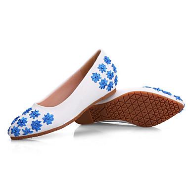 Matière Eté Bout Ballerine Satin pointu synthétique Chaussures Femme Ballerines Plat Rose Talon 06782214 en Bleu Fleur wqtaUx5nT