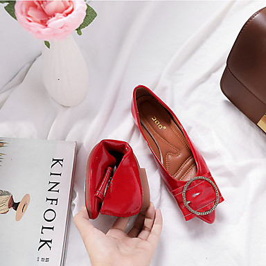Puntiagudo Mujer Mocasín Plano Rojo Beige Dedo Verano 06775992 Bailarinas Tacón Zapatos Caqui PU xtwrUBq8x