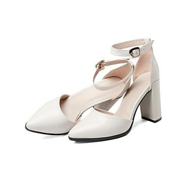 pointu à Chaussures Beige Printemps Talon Boucle Nappa Femme 06783116 été Bout Talons Chaussures Bottier Cuir Confort Noir wYqwt07Z