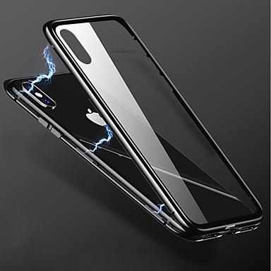 hesapli iPhone Kılıfları-Pouzdro Uyumluluk Apple iPhone X / iPhone 8 Plus / iPhone 8 Şeffaf Arka Kapak Solid Sert Metal