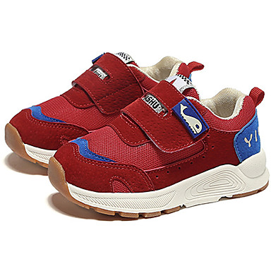 Girls' Shoes Mesh Fall & Winter Comfort Sneakers Walking Shoes / Buckle for Kids Black / Shoes Red / Pink d9c34d
