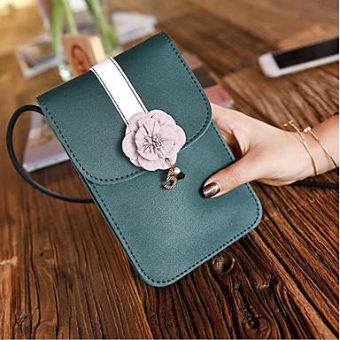 abordables Sacs-Femme Fermeture PU Mobile Bag Phone Noir / Rose Claire / Gris clair
