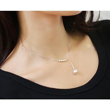 d34b57ff3bc9 Mujer Perlas de agua dulce Elegante Rastro Collar Y   Charm Necklace - Perla  Artificial Bola damas