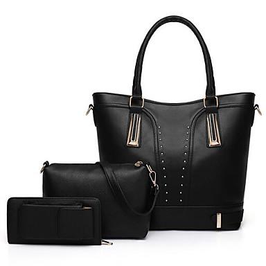 b9069ccc3f Women s Bags PU(Polyurethane) Bag Set 3 Pcs Purse Set Zipper Red   Blushing  Pink   Brown