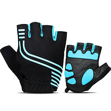 cheap Bike Gloves / Cycling Gloves-INBIKE Bike Gloves / Cycling Gloves Mountain Bike Gloves Breathable Anti-Slip Sweat-wicking Protective Half Finger Sports Gloves Mesh Mountain Bike MTB Black Blue for Adults' Fitness Gym Workout