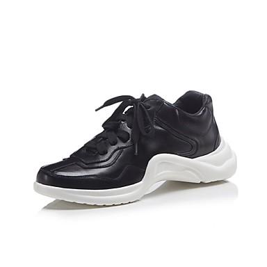 Printemps Cuir Noir Blanc Nappa Chaussures 06850242 été Femme Confort Basket Creepers 5qtpwaz14