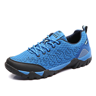 Men's Comfort Shoes Mesh Fall Casual Athletic Shoes Hiking / Shoes Breathable Light Blue / Hiking Black / Green / Royal Blue bfc395
