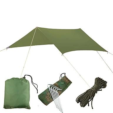 رخيصةأون مفارش و خيم و كانوبي-5 شخص واقي للتخييم في الهواء الطلق مقاوم للأشعة فوق البنفسجية مكتشف الأمطار خفيف جدا (UL) طبقة واحدة خيمة سهلة الفتح خيمة التخييم 1000-1500 mm إلى شاطئ Camping / Hiking / Caving تنزه