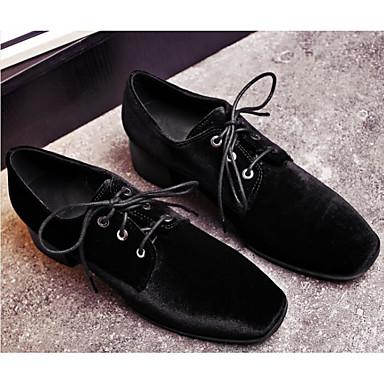 06849845 Bleu Talon Daim Noir Chaussures Automne amp; Oxfords Printemps Bottier Confort Femme BP0Zw7nv