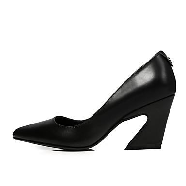 Marron Talons Escarpin 06846209 Eté Bottier à Noir Talon Femme Chaussures Chaussures Nappa Confort Cuir Basique 1HOHzU