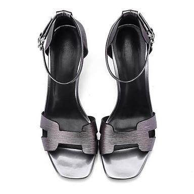 06858806 Talon Cuir Femme Gris Eté Chaussures Sandales Nappa hétérotypique Noir Confort x4YqvwpYR