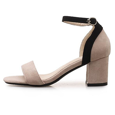 Confort 06849077 Bottier Eté Daim Amande Sandales Jaune Basique Noir Escarpin Femme Talon Chaussures q87xnt