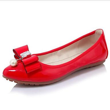 Talon Polyuréthane Chaussures Noir 06870187 Plat fermé Femme Bout Rouge Ballerines de confort Eté Vin AqdwYR