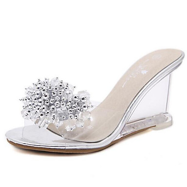 Or semelle PVC Noir Hauteur Sandales Femme Eté de Blanc 06843330 Confort Chaussures compensée Bqng0wz