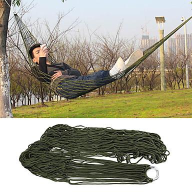Rede de Acampamento Ao ar livre Dobrável, Respirabilidade Náilon para Caça / Equitação / Pesca - 1 Pessoa Verde