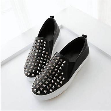 Creepers fermé et D6148 Chaussures Confort Mocassins Cuir Eté 06857036 Nappa Chaussons Printemps Bout Noir Femme xHSvFqx
