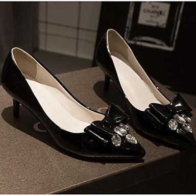 PU 06848768 Rojo cerrada Stiletto Tacón Primavera Mujer Tacones Negro Confort Punta Zapatos p1qAa5