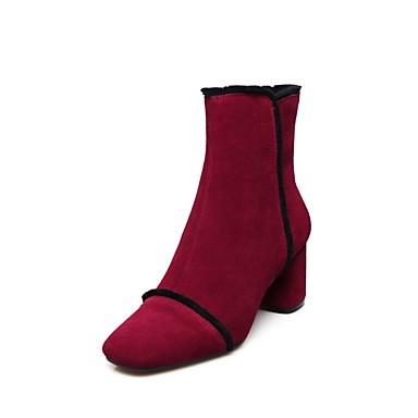Chaussures hiver Noir Confort 06856528 Vin Bottes Automne Daim Talon Femme Bottier Sq1wZ