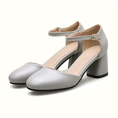 Zapatos Confort Primavera Cuadrado Mujer Tacones Amarillo 06848327 Gris PU Negro Tacón dwYqxq