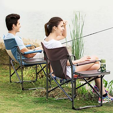 כיסא קמפינג מתקפל חיצוני נייד, קל משקל בַּד, אלומיניום ל דיג / קמפינג / נסיעות - 1 אדם קפה