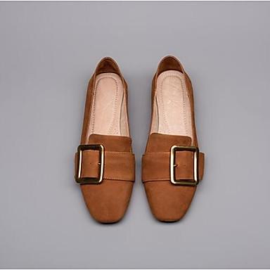 Femme Printemps D6148 Nappa Confort Talon Noir Plat Mocassins Bout Eté Cuir Chaussons fermé Chaussures Marron et 06857045 rqrWUA