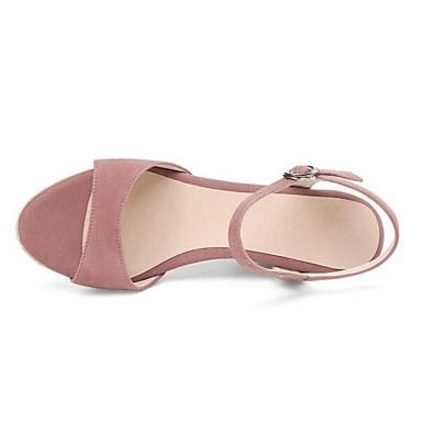 Rose Sandales 06848822 semelle Femme Confort mouton Peau Noir de Printemps Chaussures Hauteur de compensée OqzzYcr7Wn