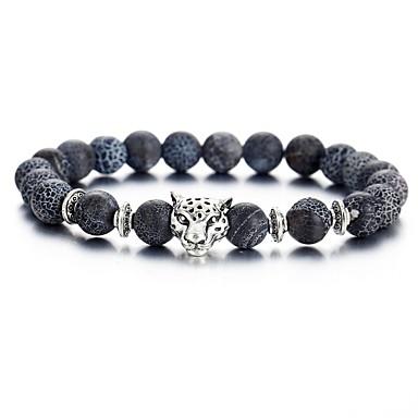 voordelige Herensieraden-Heren Kralenarmband Retro Tiger chakra Modieus Folk Style Equilibrio Steen Armband sieraden Zwart Voor Dagelijks