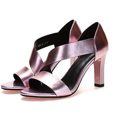 Eté Aiguille Cuir Argent Noir Confort Sandales Nappa Femme Talon 06858121 Chaussures Rose OAw7qqct