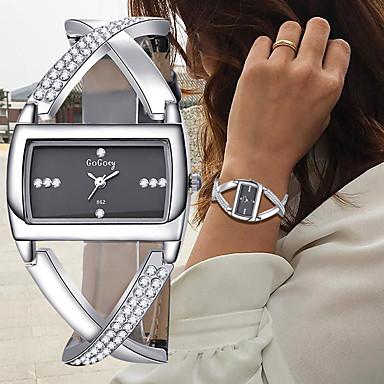 cheap Women's Watches-Women's Bracelet Watch Wrist Watch Diamond Watch Quartz Leather Black / White Chronograph Creative New Design Analog Ladies Bangle Elegant - White Black One Year Battery Life / SSUO 377