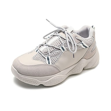 2019 Moda Per Donna Scarpe Comfort Retato Autunno Scarpe Da Ginnastica Footing Piatto Punta Tonda Bianco - Beige - Rosso #06897529