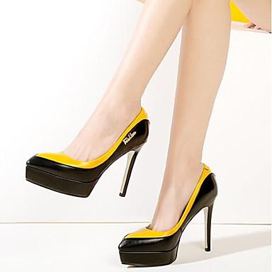 Cuir Bleu Gris Femme Escarpin Chaussures Talon Printemps Aiguille Jaune à 06869666 Nappa Basique Talons aZxwqAd