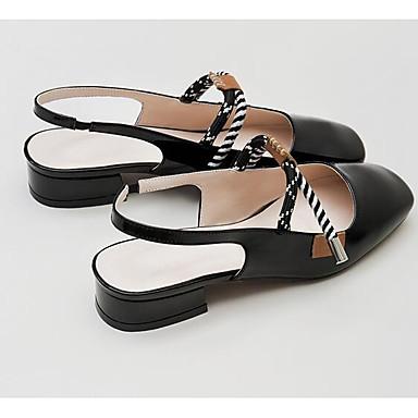 Cuir Nappa Chaussures Mules Bas Talon Confort Blanc 06849983 amp; Vin Femme Eté Sabot Noir q5EfEd