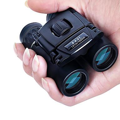 8 X 21 mm مناظير بورو ضد الماء محمول ليلة الرؤية تغطية متعددة كاملة BAK4 التخييم والتنزه الصيد وصيد الأسماك السفر ليلة الرؤية / الطيور تراقب