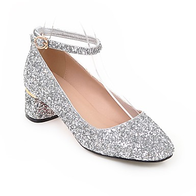 Polyuréthane Talon Argent Femme à Bottier Chaussures Confort Talons Chaussures 06856448 Blanc Printemps été Noir 5x86FU