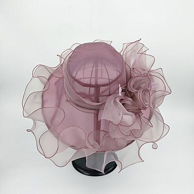 abordables Coiffes-Tulle Chapeaux avec Fleur 1pc Mariage / Fête / Soirée Casque