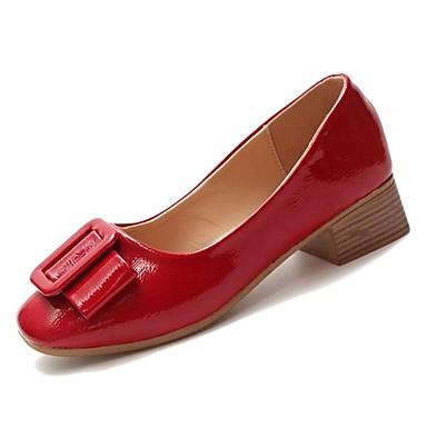 PU Rosa Verano Mujer Tacones Rojo Zapatos cuadrada Básico Cuadrado Beige Pump Tacón Dedo 06846186 a5qSHq