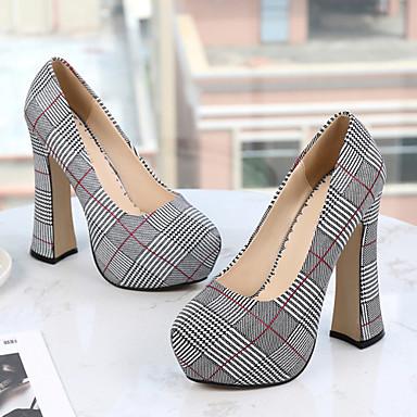 Chaussures à Coton Automne Chaussures Femme Printemps Argent Talon rond Nouveauté Talons amp; Bout 06849140 Vert Bottier amp; Soirée Evénement Rouge 0Y0wq
