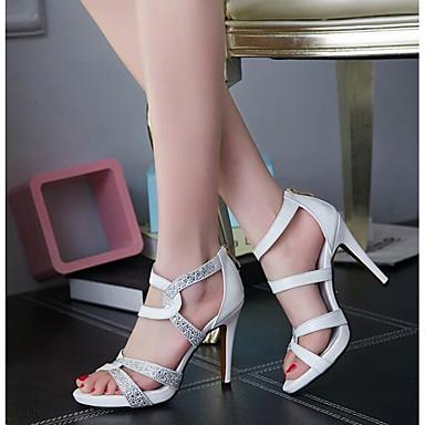 Sandales Aiguille de Femme mouton Confort Peau 06865099 Eté Talon Noir Blanc Rouge wCXxpq1x0S