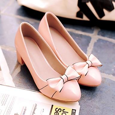 Rose 06856890 Block Heel Chaussures Escarpin Chaussures amp; rond Polyuréthane Noeud à Beige Automne Noir Basique Femme Talons Printemps Bout wTPUvx00q